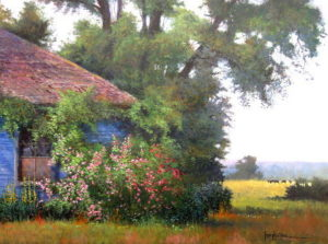 "Joseph Orr painting, ""Wild Country Rose"", image size: 24""x30"""